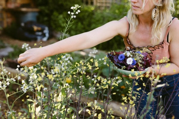 Allowing vegetables to flower feeds pollinators and humans. Photo: Kelly Brown