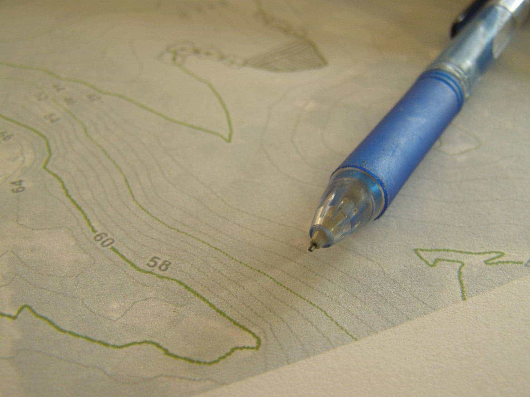 We use contour maps to understand your farm's micro-watershed.
