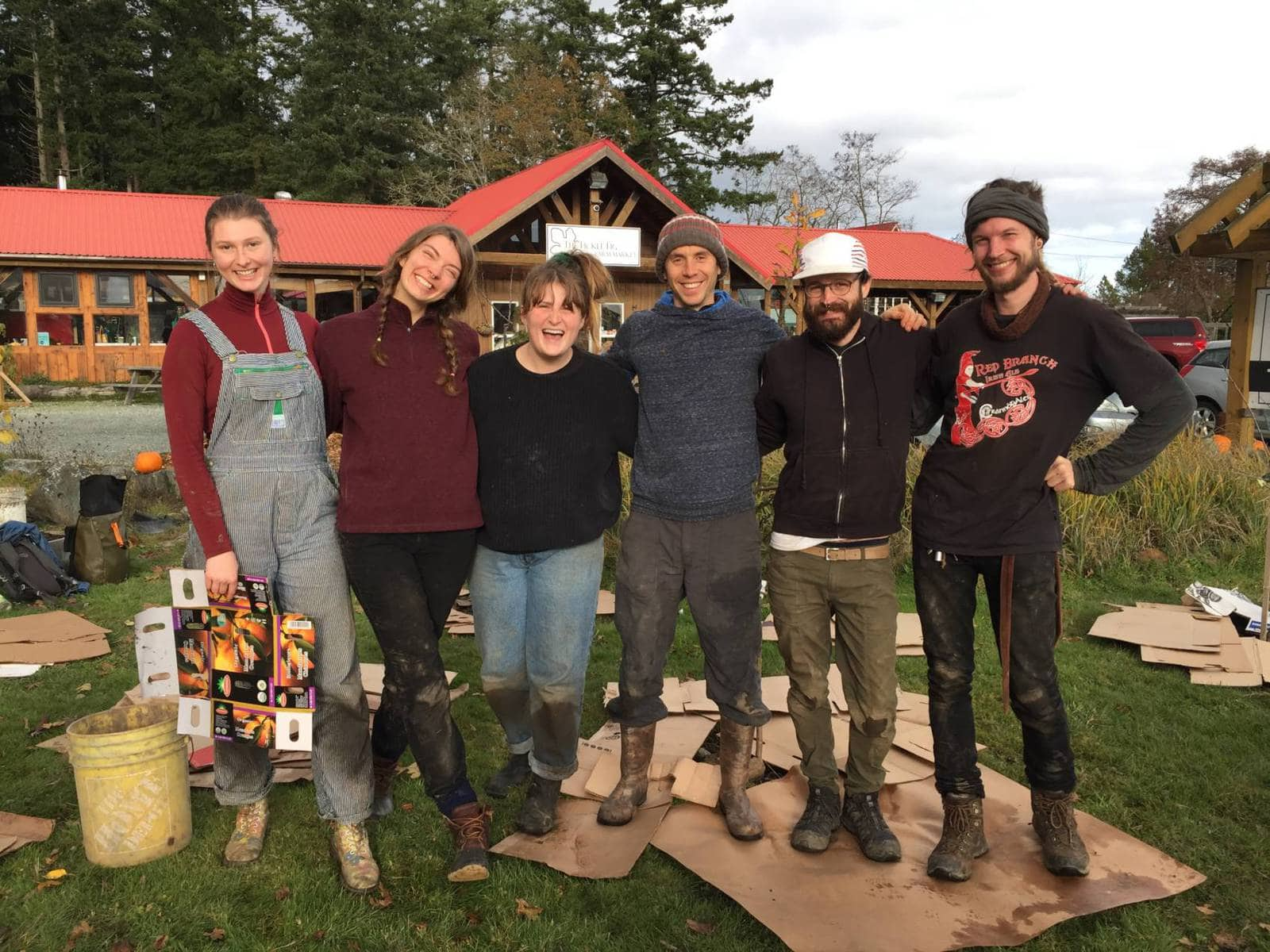 The first cohort of Pacific Rim College's Permaculture Design and Resilient Ecosystems program.
