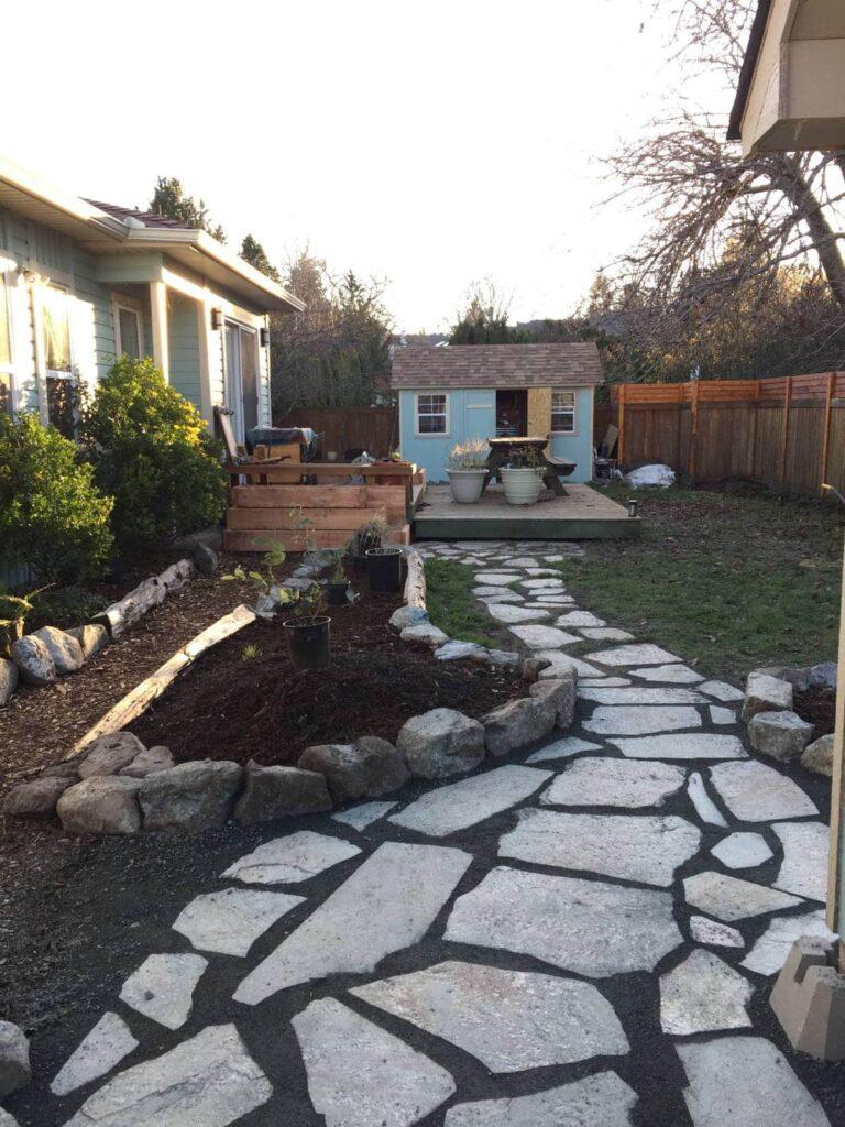 A yard transformation.